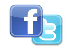 Facebook & Twitter Logos
