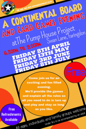 The Pump House Project Games Night