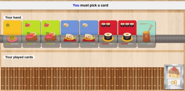 Sushi Go! on Board Game Arena